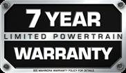 Limited Powertrain 7 Year Warranty